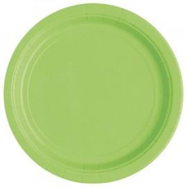 Green Paper Dessert Plates