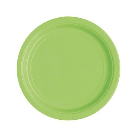 Piattini Carta Verde 18cm 8pz
