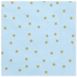 Light Blue and Golden Stars Napkins