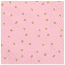 Light Pink and Golden Stars Napkins