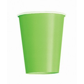 Green Paper Cups 8pc
