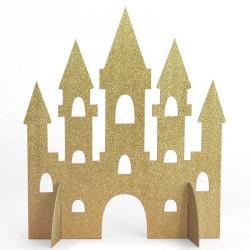 Gold Glitter Princess Castle Centerpiece