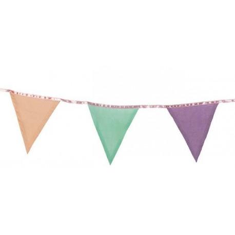 Festone bandierine in tessuto colori pastello