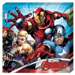 Tovaglioli Avengers - Thor, Hulk, Capitano America e Iron Man
