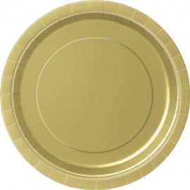 Golden Paper Dessert Plates 24pc