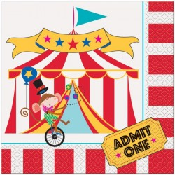 Circus Carnival Lunch Napkins