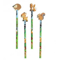 Set Pencil with rubber Woodland 4pc