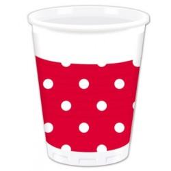 Bicchieri Rosso a Pois Bianco