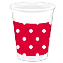 Red Dots Plastic Cups