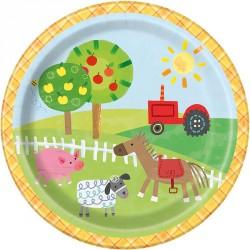 Farm Party Dessert Plates