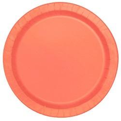Coral Paper Dessert Plates 20pc