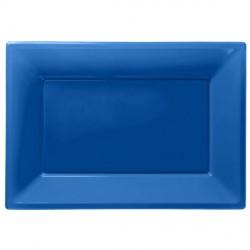 Vassoi Plastica Blu 3pz