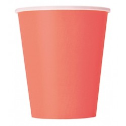 Coral Paper Cups 14pc