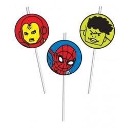 Avengers Drinking Straws