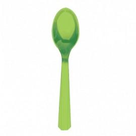 Green Plastic Spoons