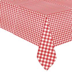 Tovaglia Plastica Quadretti Rosso e Bianco