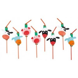 Farm Party Drinking Straws