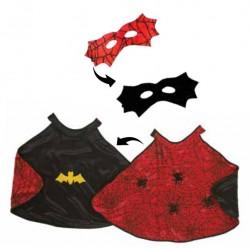 Set Mantello e Maschera Ragno e Pipistrello (2 in 1)