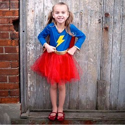 Lightning Superheroine Fancy Dress 5 - 6 years