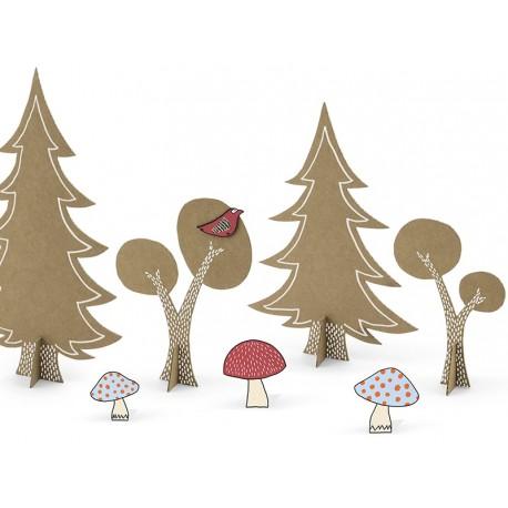 Set Decorazione Tavola - Festa Compleanno Bosco