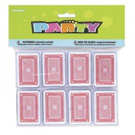 Mini carte da gioco 8pz