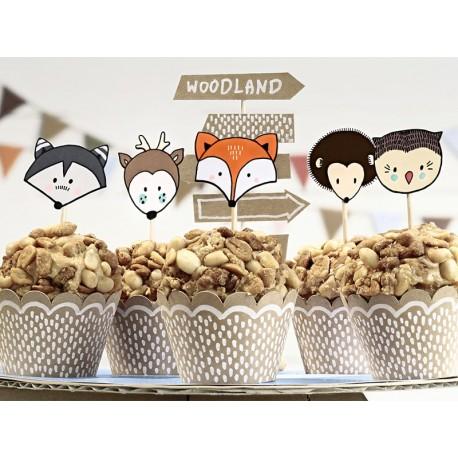 Set decorazione Cupcake tema Bosco