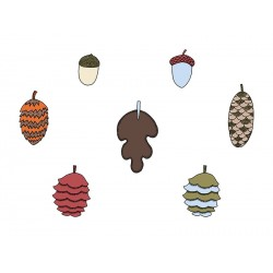 Woodland decorative Acorns