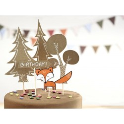 Woodland Cake Toppers Set