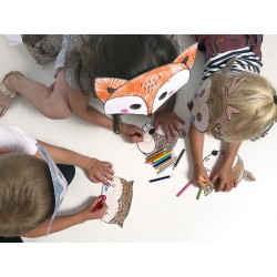 Woodland Coloring Masks - 6 assorted designs