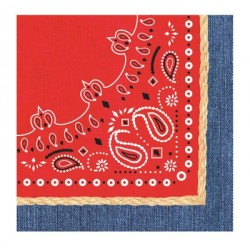 Western party Bandanarama Lunch Napkins
