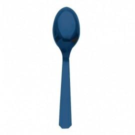 Cucchiai Plastica Blu 24pz