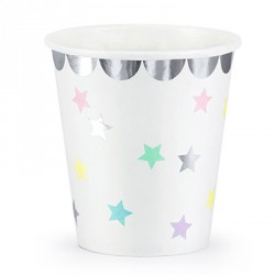Silver Foil and Stars Dessert Cups
