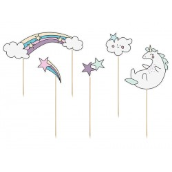 Unicorn Make a Wish Toppers Set