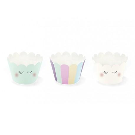 Set Cupcake Wrapper Unicorno - 3 design