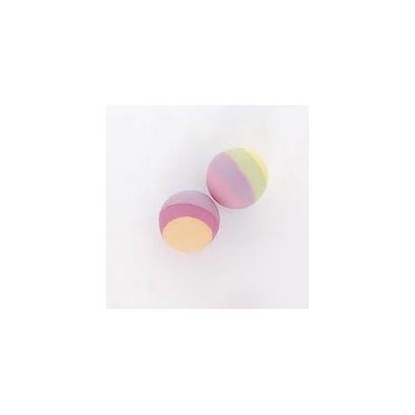 Palline gomma multicolorata 12pz