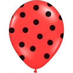 Palloncini rossi a pois nero 5pz