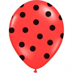 Red and Black Dots Balloons 5pc