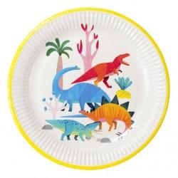 Piatti Dinosauri in carta 100% riciclabile