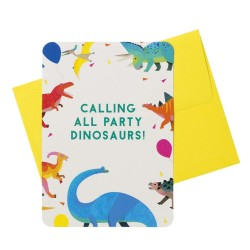 Dino Fun Party Invitations