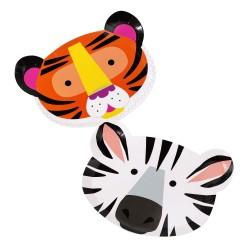 Piatti Animali Zebra e Tigre