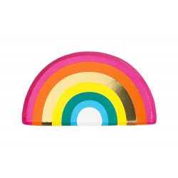Rainbow Shaped Plates