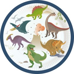 Happy Dinosaur Dessert Plates