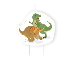 Happy Dinosaur Birthday Candle