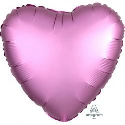 Pink Heart Satin Foil Balloon
