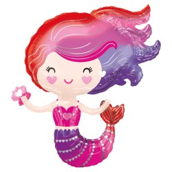 Palloncino Foil SuperShape Lovely Mermaid