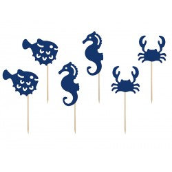 Sea Animals Cupcake Toppers