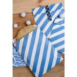 Blue Stripes Treat Bags