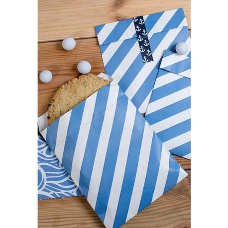 Blue Stripes Treat Bags