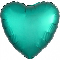 Teal Heart Foil Balloon