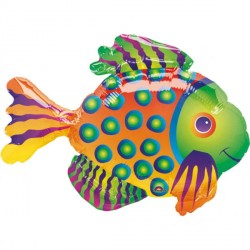 Tropical Fish Minishape Foil Balloon